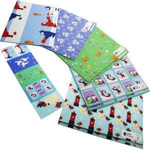 Re-wrapped: ECO Friendly Wrapping Paper Christmas Bird Large Pack by Vicky Scott made from 100% Unbleached Recycled Paper