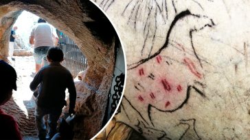 Cueva de la Pileta, Sierra de Libar, José Bullón Lobato, prehistoric cave painting