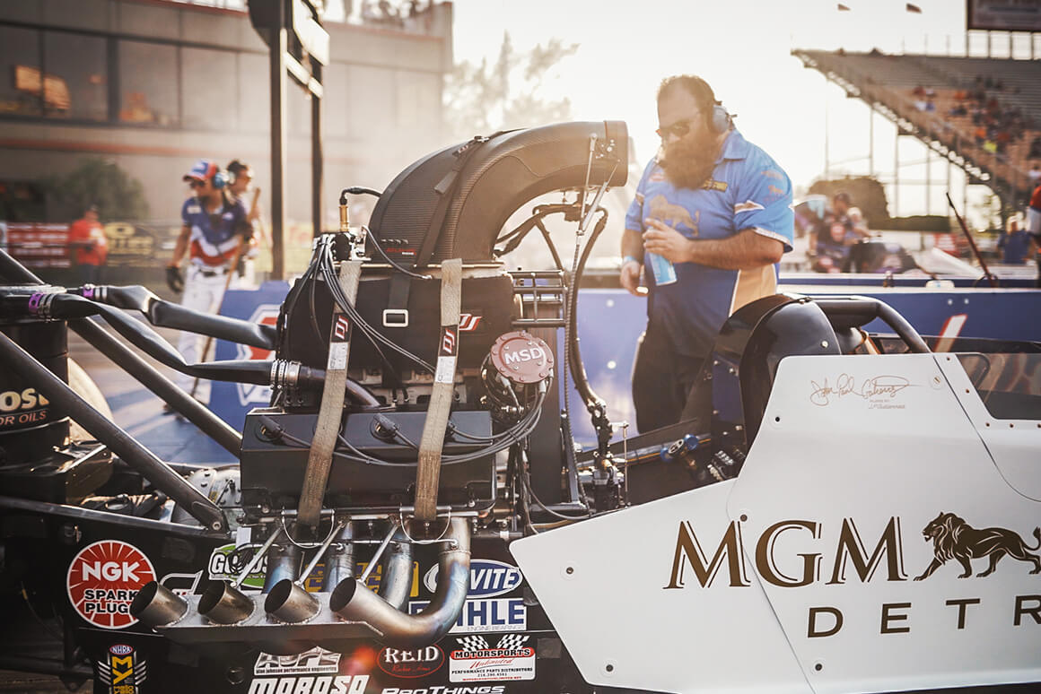 The Gutierrez Brothers Racing NHRA Top Alcohol Dragster inches closer to making a 270MPH run.