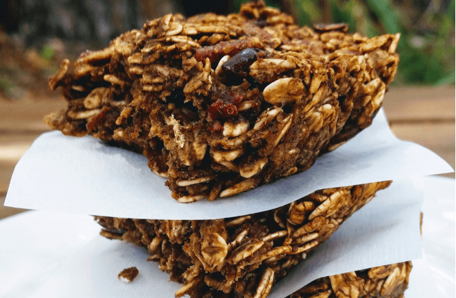 Gingerbread Granola Bars | Breakfast | Healthy Snack | Holiday | Cranberries | Vegan | Gluten Free |
