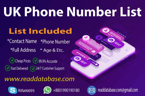 UK Phone Number Database