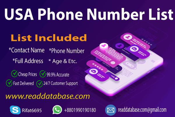 USA Phone Number List