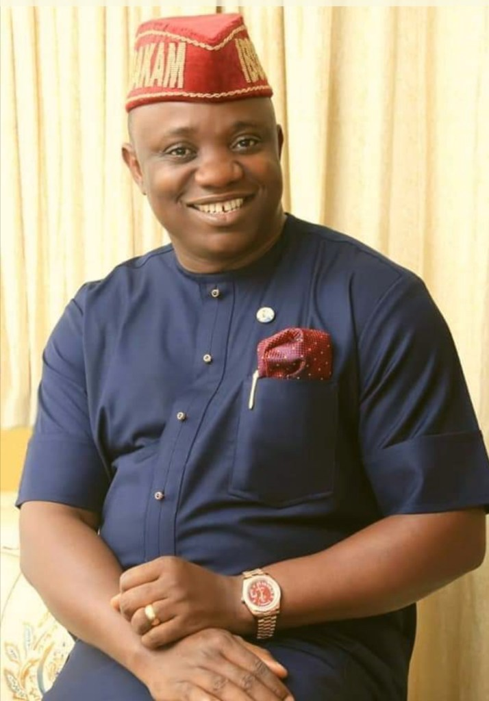Hon. Aniekan Uko, celebrating the re-election of Governor Udom Emmanuel and subsequent inauguration
