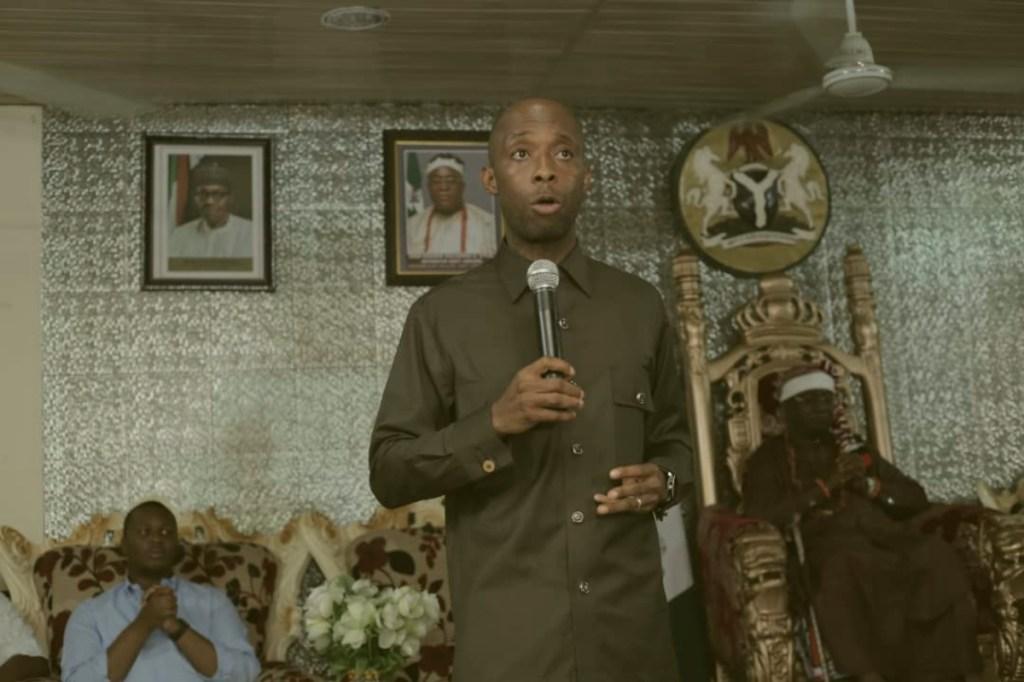 Speaker Luke at Oku Ibom Ibibio Palace