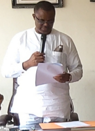 Akwa Ibom State Commissioner For Education, Prof. Nse Essien Briefing the Committee