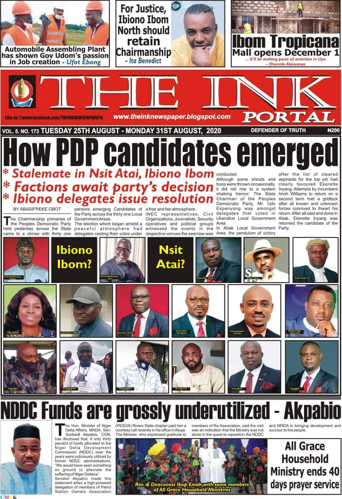 IMG 20200825 WA0018 Top Akwa Ibom Newspaper Headlines For Today Tuesday August 25, 2020