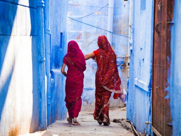 The blue city of Jodhpur, Rajasthan, India