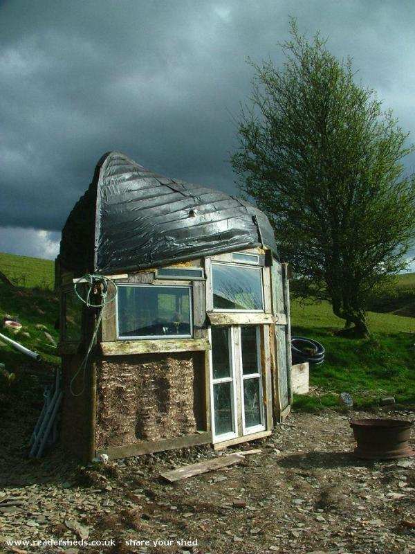 Boat Roofed Shed - Alex Holland