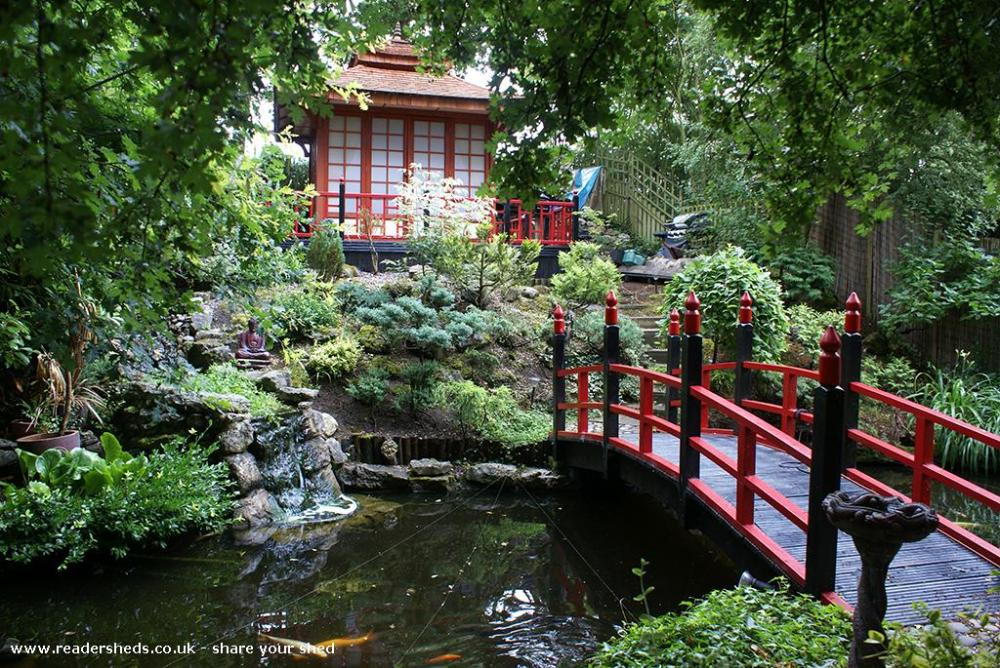 Japanese Tea House shed - Derek Verlander - Garden