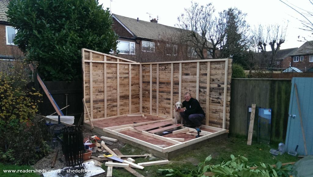 The Pallet Shed WorkshopStudio From In Back Garden Owned