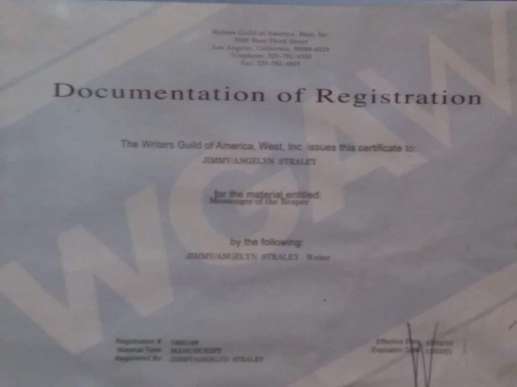 jimmy straley document