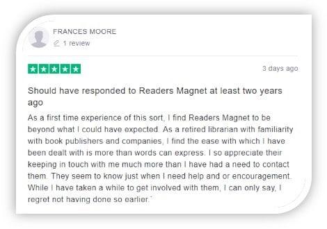 readersmagnet trustpilot review image