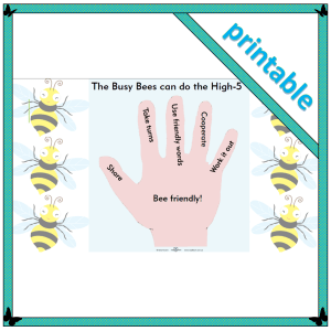 the high-5 is a great strategy for children to use when encountering problems in the playground