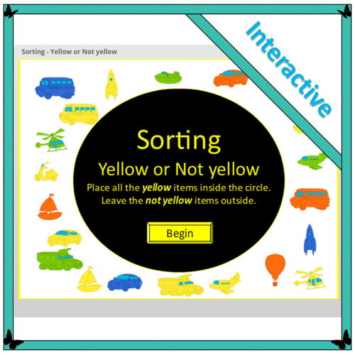 Sorting: Yellow or Not yellow