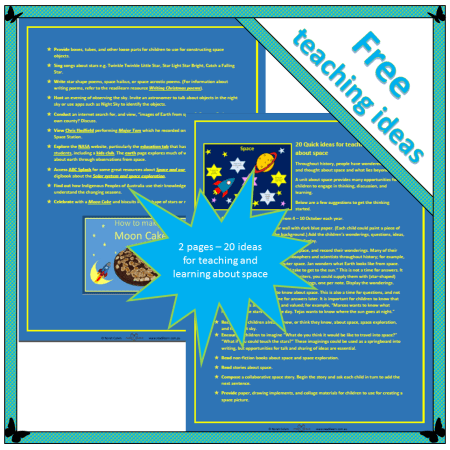 20 quick ideas for teaching about space