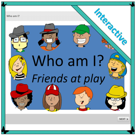 interactive who am I puzzle to solve