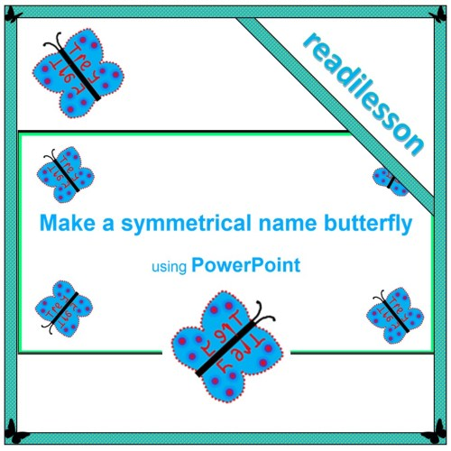 Make a symmetrical name butterfly