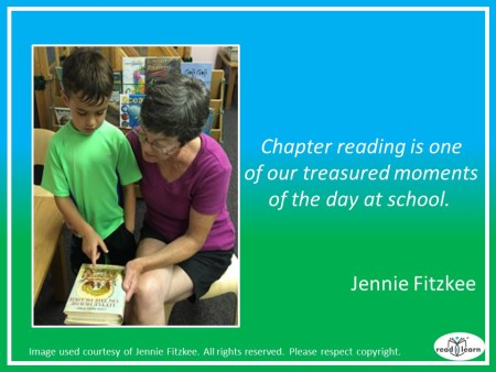 Jennie Fitzkee - reading chapter books to children brings treasured moments
