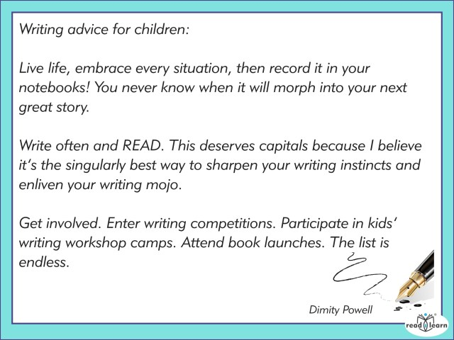 Advice for teachers as writing guides by Dimity Powell
