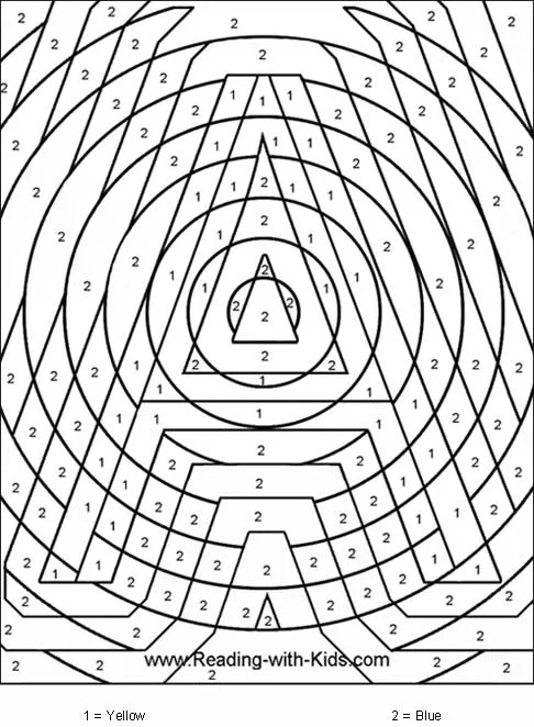 coloring pages color by number # 3