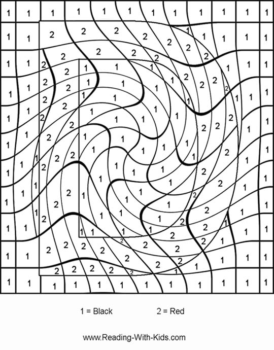 coloring pages color by number # 6