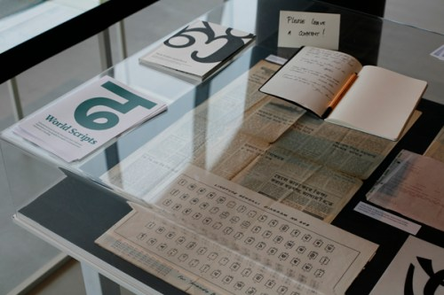 World scripts exhibition at ATypI 2011
