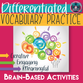 Engage students in differentiated vocabulary practice that uses brain-based approaches to learning. Available from Reading and Writing Haven on Teachers Pay Teachers.