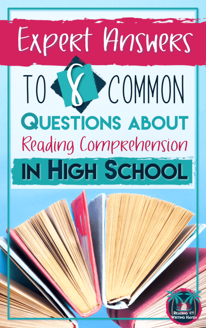 Confused about how to teach reading in high school? Here are answers you can trust from an expert in the field. Some of the most pressing questions secondary teachers have about addressing reading comprehension in high school: demystified.