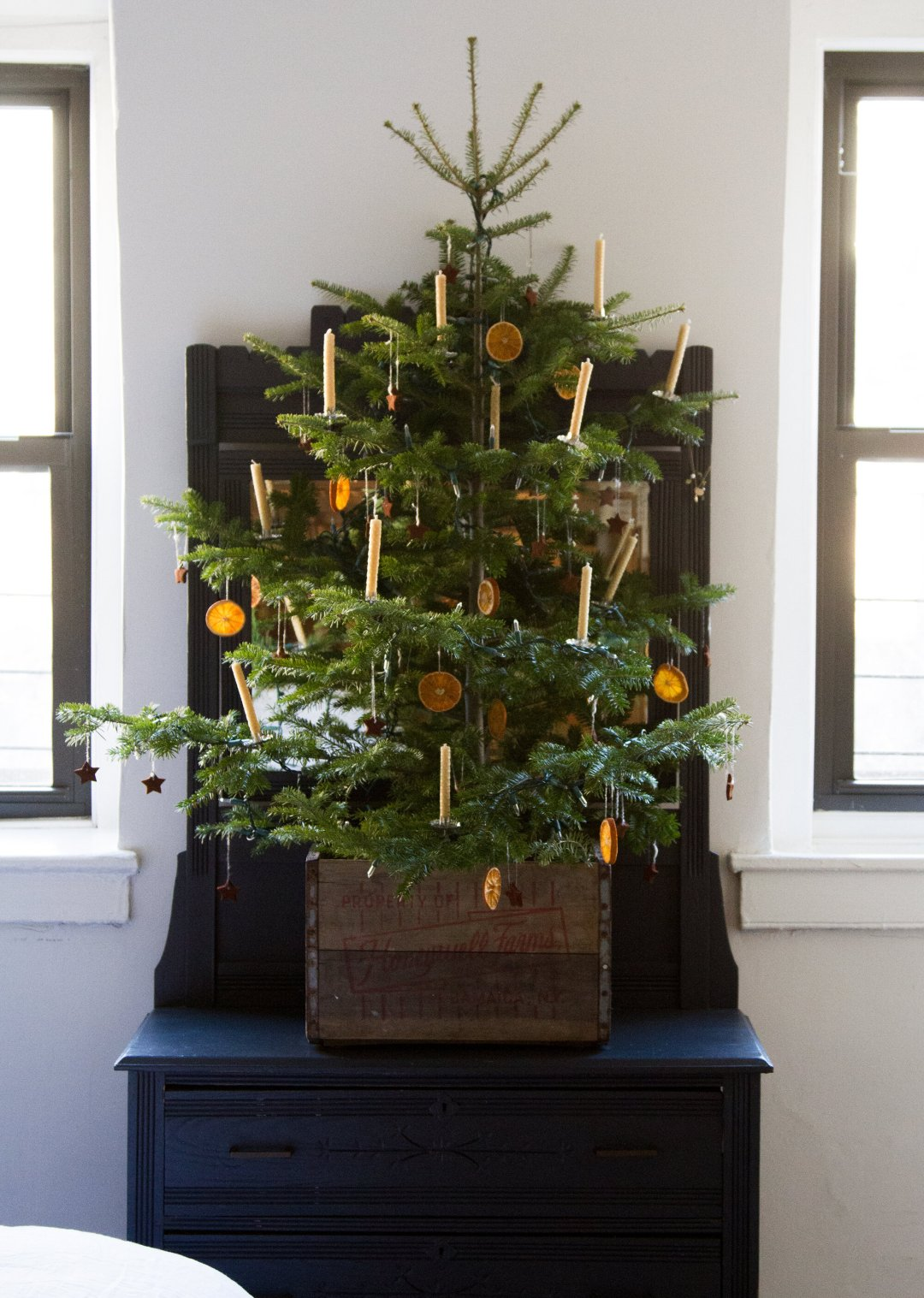 small apartment christmas tree | reading my tea leaves