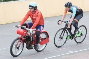 2nd Matthew Burke, Newport Youth Cycling Club, paced by Tony Hibbert