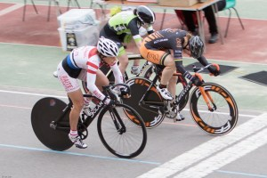 Janet Birkmyre wins the sprint in a tightly fought competition