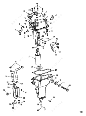 MercuryMariner 50 EFI 4 Cyl 4Stroke, Vapor Separator