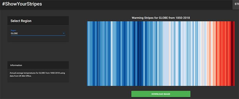 Как нагревается планета можно посмотреть онлайн