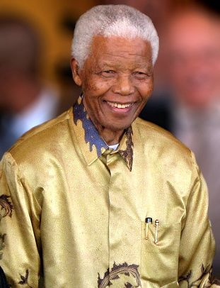 Nelson Mandela in 2008 from Wikimedia Commons