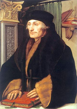 Erasmus as painted by Holbein