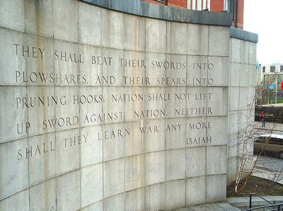 The Isaiah Wall near the United Nations