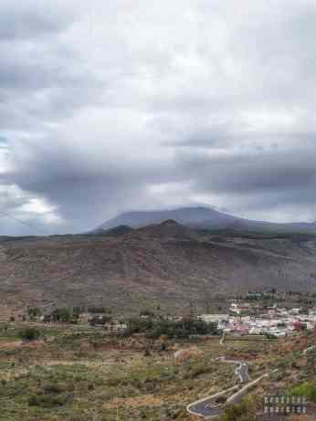 Teneryfa - Masca, widok na Teide