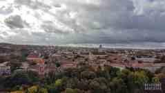 Widok na stare miasto ze Wzgórza Giedymina - Wilno, Litwa