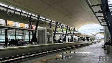 Stacja kolejowa, na której się przesiadaliśmy
