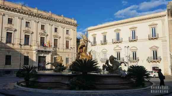 Plac Archimedesa w Syrakuzy - Sycylia