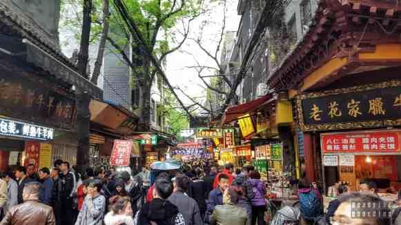 Dzielnica muzułmańska w Xi'an- Chiny