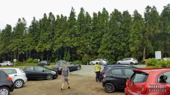 Parking w okolicach Lagoa do Canário, Azory