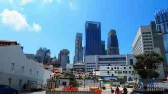 Drapacze chmur przy Chinatown - Singapur