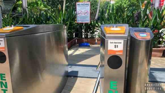 Wejście na Sentosę - Singapur