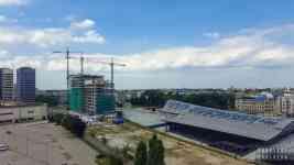 Widok z EC1 Łódź - Brama Miasta