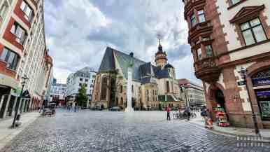 Kościół Św. Mikołaja i Kolumna Pokoju, Lipsk - Niemcy