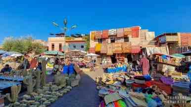 Targowisko w Marrakeszu - Maroko