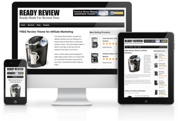 Ready Review Free Theme     Free Review Theme for Affiliate Marketers