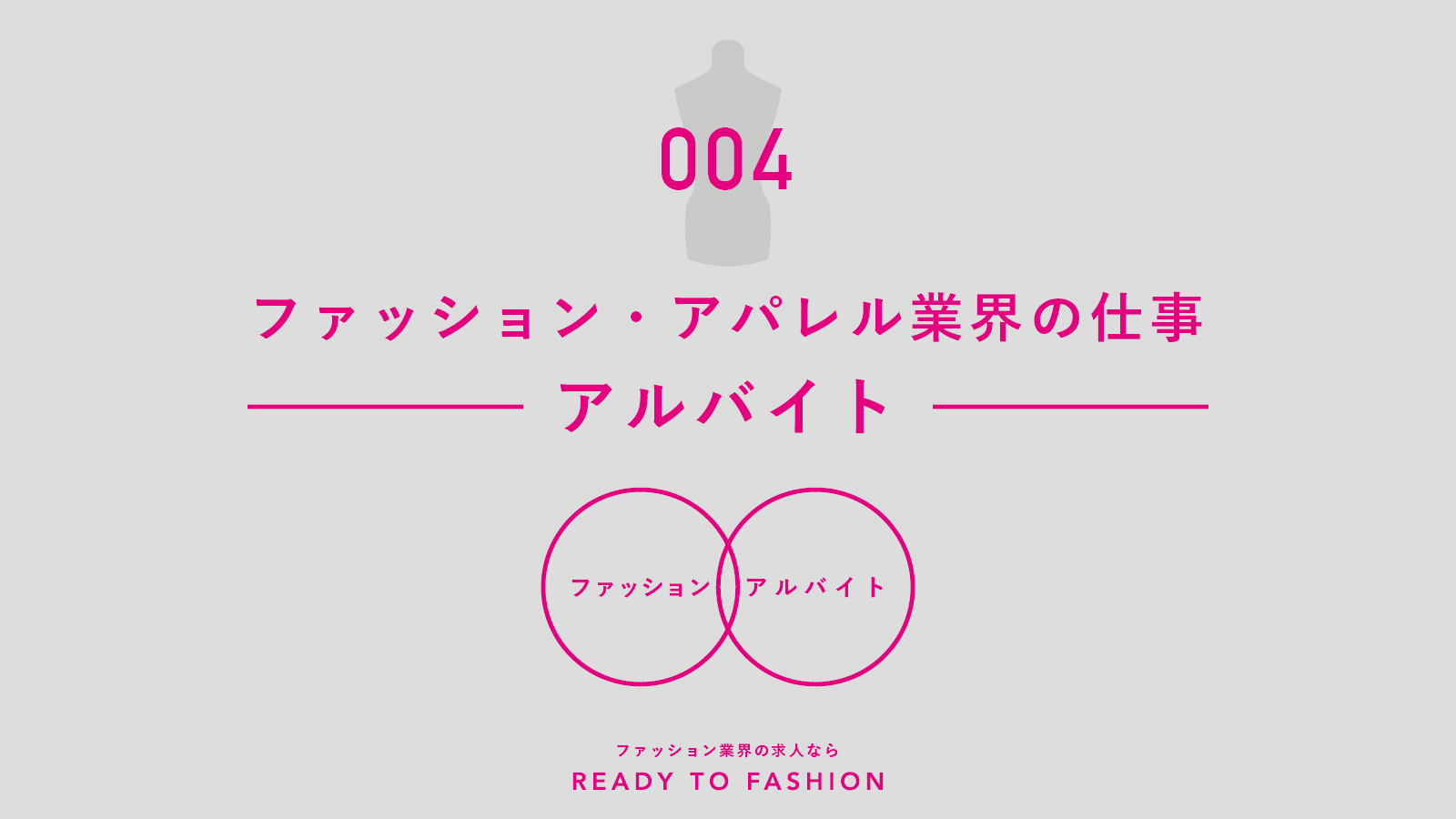【連載】ファッション・アパレル業界の仕事|vol.4 アルバイト①