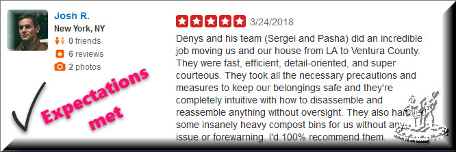 Reviews movers